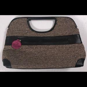 Victoria's Secret clutch handbag purse brown tweed